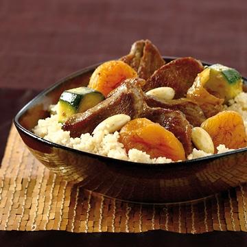 couscous d'agneau façon tajine aux fruits secs et abricots Zakia